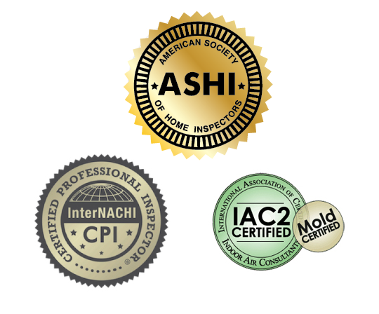 Ashi Internachi Mold Certification Icons