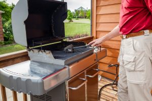 cleaning the grill is important for grilling safety